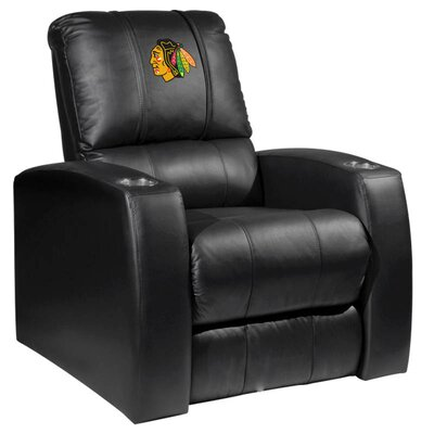HT Leather Manual Recliner NHL Team: Chicago Blackhawks