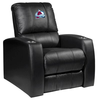 HT Leather Manual Recliner NHL Team: Colorado Avalanche