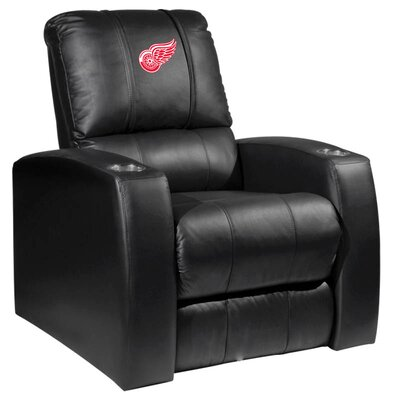 HT Leather Manual Recliner NHL Team: Detroit Red Wings