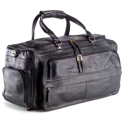 "Vachetta 19.5"" Leather Travel Duffel Color: Vachetta Black"
