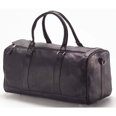 "Vachetta Barrel 19"" Leather Travel Duffel Color: Vachetta Black"
