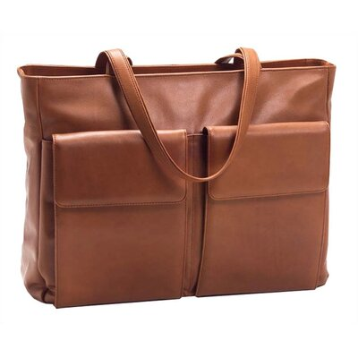 Laptop Tote with Removable Sleeve in Tan