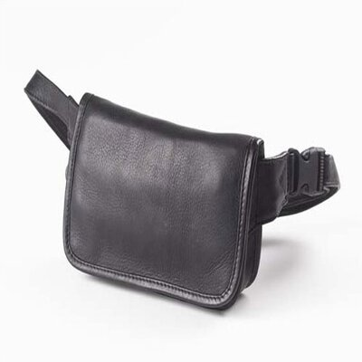 Clava Leather Vachetta Wallet on a Waist in Black at Sears.com