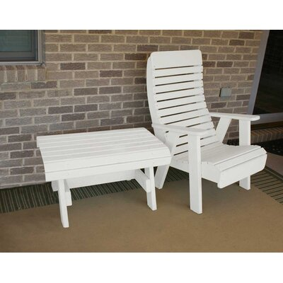 Cedar Twin Ponds Chair and Table Set Finish: White Stain