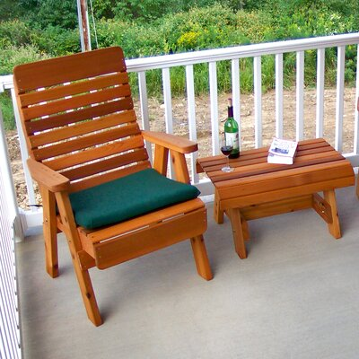 Cedar Twin Ponds Chair and Table Set Finish: Cedar Stain/Sealer
