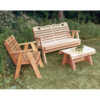Cedar Furniture and Accessories 3 Piece Seating Group Finish: Cedar Stain/Sealer