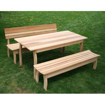 Cedar Odd Couple Dining Set Size: 32 W x 70 L, Finish: No Finish