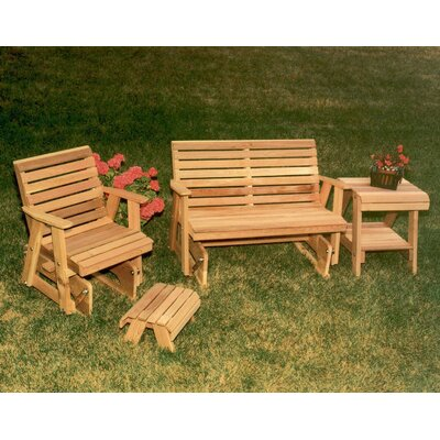 Cedar Classic Rocking Glider Furniture Collection Finish: White Stain