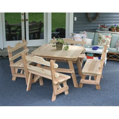Cedar Union Dining Set Finish: White Stain