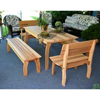 Cedar Gathering Dining Set Size: 32 W x 46 L, Finish: No Finish