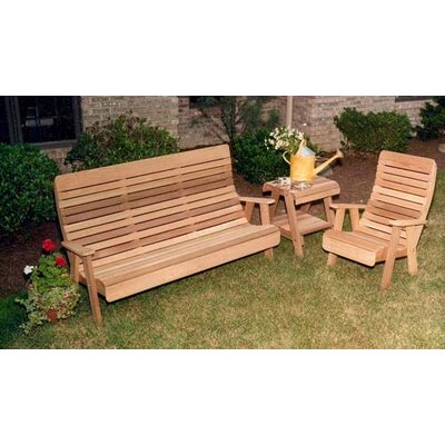 Cedar Twin Ponds Bench and Chair Collection Finish: No Finish