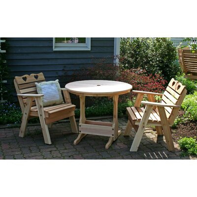 Cedar Country Hearts Bistro Set Finish: Cedar Stain/Sealer