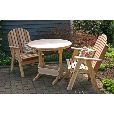Cedar Fanback Bistro Set Finish: White Stain