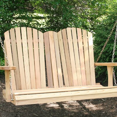Cedar Porch Swing Finish: No Finish