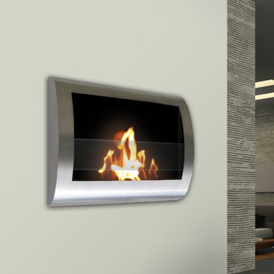 Anywhere Fireplaces 90298 Chelsea Wall Mount Bio Ethanol Fireplace Finish Stainless Reviews