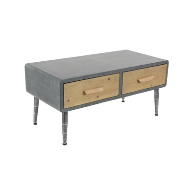 Meri Modern Rectangular 2-Drawer Coffee Table