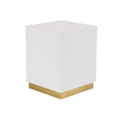 Butner Modern Squared End Table Color: White