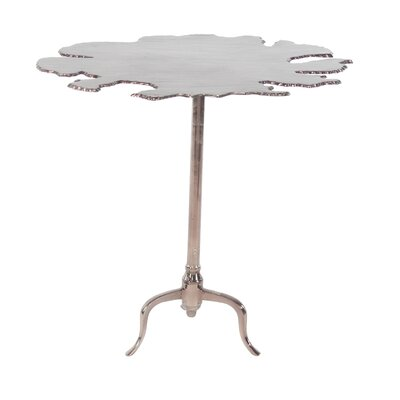 Campanelli Modern Aluminum Irregular-Shaped End Table Color: Brown