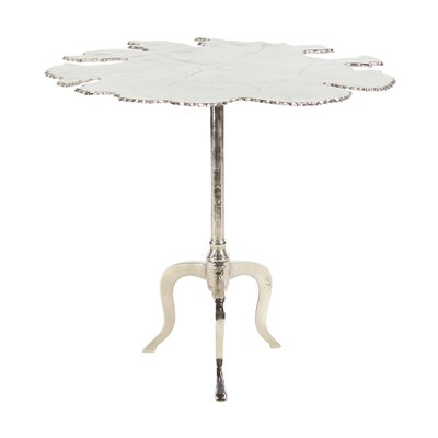 Campanelli Modern Aluminum Irregular-Shaped End Table Color: Silver