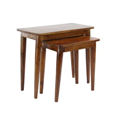 Bachand Modern Wood Rectangular Nesting Tables