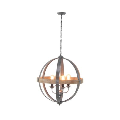 Raghul 4-Light Globe Pendant