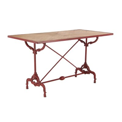 Chelseaville Traditional Wood and Iron Dining Table Base Color: Red