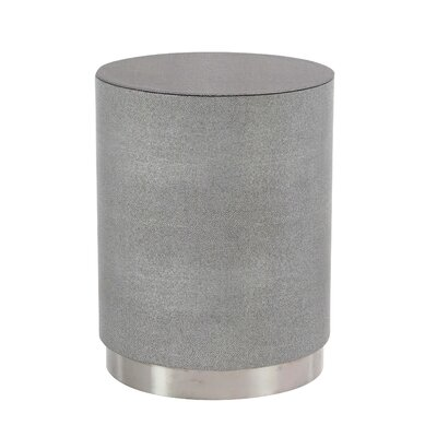 Butner Modern Wood and Stainless Steel Round End Table Color: Gray