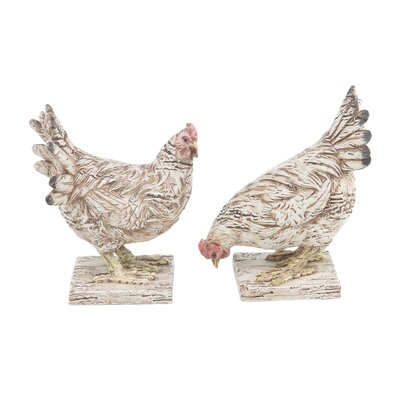 Eagles Farmhouse Detailed Chicken 2 Piece Figurine Set AGTG4079 43154597