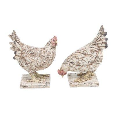 Eagleswood Detailed Chicken 2 Piece Figurine Set AGTG4079 43154597