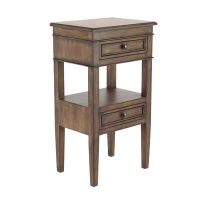 Idlewild Traditional Wooden End Table with Storage Color: Rustic Brown