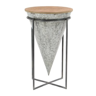 Lacee Modern Wood and Iron Cone Shaped 26 Bar Stool