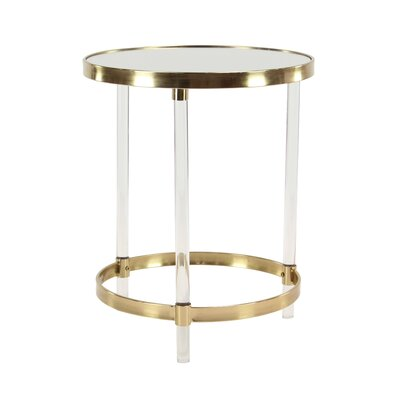 Vogel Modern Round Iron and Acrylic End Table