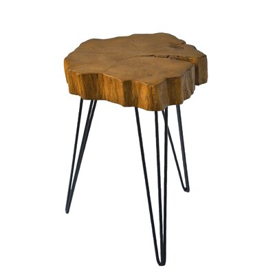 Buzzard Rustic Crosscut Treed Table Color: Brown