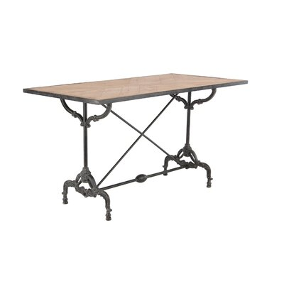 Chelseaville Traditional Wood and Iron Dining Table Base Color: Brown