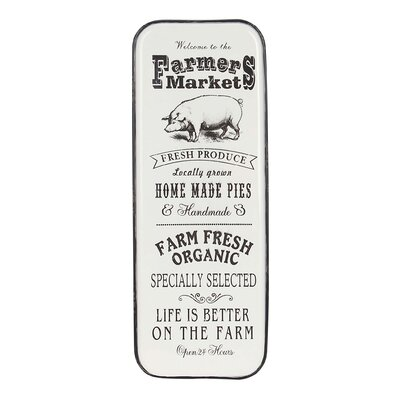 Farmhouse Pig and Market Typography Wall Décor