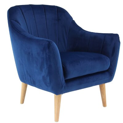 Veasley Modern Cushioned Armchair Upholstery: Dark Blue