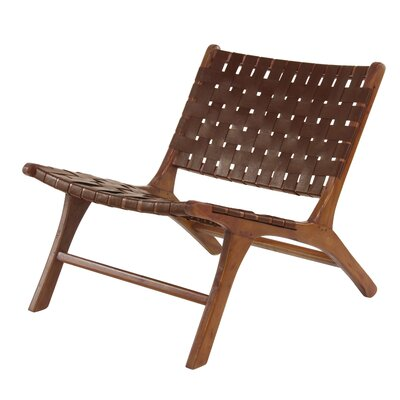 Veatch Rustic Mahogany Lounge Chair Finish: Brown
