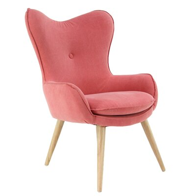 Weisinger Armchair Upholstery: Red