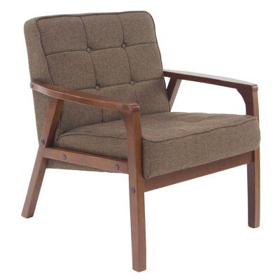 Laurie Armchair Upholstery: Brown
