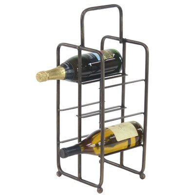Dominque Contemporary Iron 6-Bottle Tabletop Wine Bottle Rack