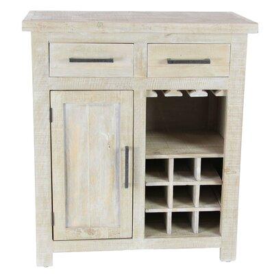 Bergeronnes 9-Bottle Floor Wine Cabinet Color: White