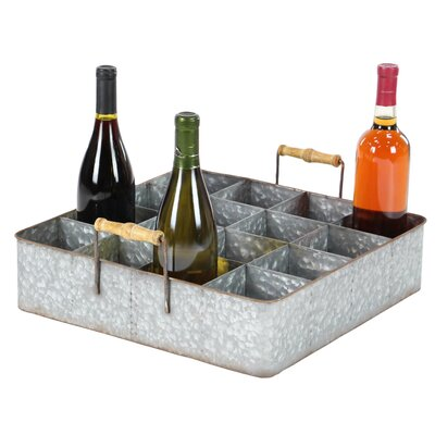 Amee Farmhouse 16-Bottle Tabletop Wine Bottle Rack