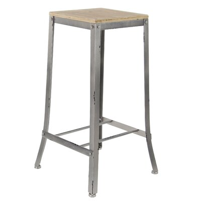 Hoan Industrial Fir Wood and Iron Square 29 Bar Stool Color: Gray