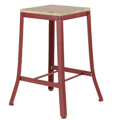 Hoan Industrial Square Counter 24 Bar Stool Color: Red