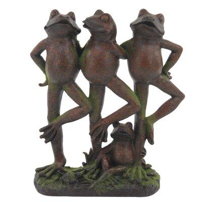 Eastampton Rustic Dancing Frogs Figurine AGTG4080 43154598