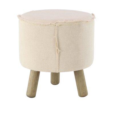 Taj Cottage Ottoman Upholstery: White