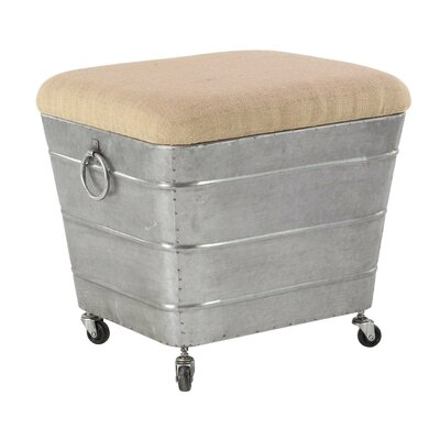 Del Storage Ottoman Finish: Gray