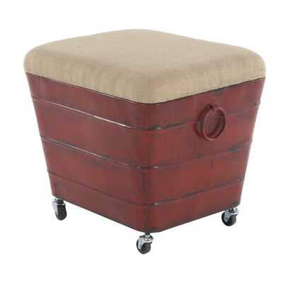 Del Storage Ottoman Finish: Red