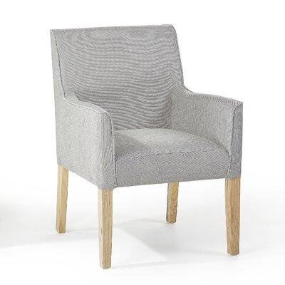 Rockefeller Upholstered Dining Chair Upholstery Color: Light Gray