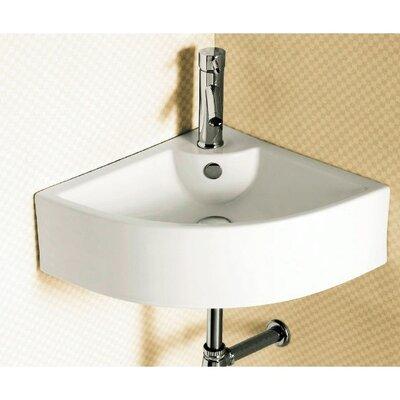 Ceramic 26 Corner Bathroom Sink with Overflow